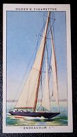America's Cup    ENDEAVOUR 1    Racing Cutter    Yacht   Original Vintage Card