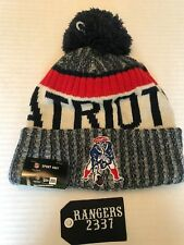 NEW ERA NEW ENGLAND PATRIOTS NFL 2017 ON FIELD OFFICIAL SIDELINE BEANIE KNIT HAT