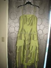 Woman's Jordan Evening Gown/Prom Dress Iridescent Green w/ Beading Size 6 (NWT)