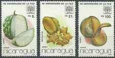 Timbres Flore Fruits Nicaragua PA1143/5 ** lot 7590
