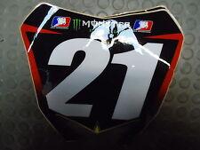Suzuki RMZ250 2010-2014 Rockstar Factory team issue background no.21 RM1674