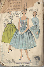 """1950s Vintage Sewing Pattern B34"""" BLOUSE, CAMISOLE & SKIRT (R442) By Anne Klein"""