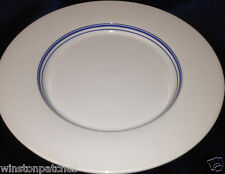 "ROYAL DOULTON TERENCE CONRAN CHOPHOUSE DINNER PLATE 11 1/4"" WHITE WITH BLUE BAND"