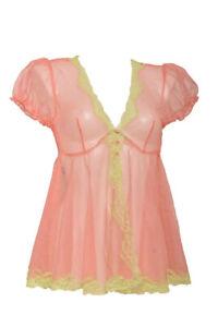 Agent Provocateur Womens Heidi Melon/Mint Slip Sheer Pink Size AP 3