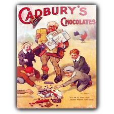 CADBURY'S CHOCOLATE Vintage Retro Advert METAL SIGN WALL PLAQUE art print poster