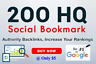 Do No1 Of Google Ranking By 200 Bookmark Of Social Sites-  Basic Package