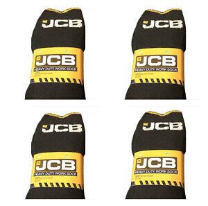 JCB - MEN'S BLACK EVERYDAY WORK SOCKS  ** 12 PAIRS ** SIZE UK 9-12 • EU 43-46