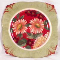 Floral Tapestry Salad Plate Certified International Gerber Daisies Porcelain