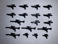 Lot of 18 Lego Star Wars Medium Blasters Rifles Pistols Weapons Guns Accessories