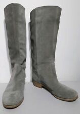 """Timberland Suede Grey/Beige Approx 14"""" High Pull On Boots Size 7 UK"""