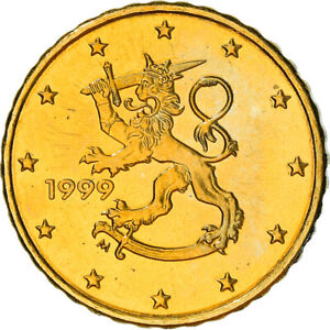 [#382219] Finlande, 10 Euro Cent, 1999, Vantaa, SUP+, Laiton, KM:101