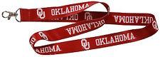 OU Oklahoma Sooners Red Lanyard w/ Clip Light Weight Lanyard