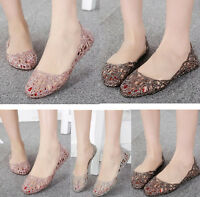 Summer Popular Ventilate Crystal Shoes Lady Jelly Hollow Out Sandals Loafer Gift