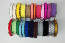 Ric Rac Ribbon Trim 6mm wide 1m, 2m 5m or 10m lengths Lots of Colours