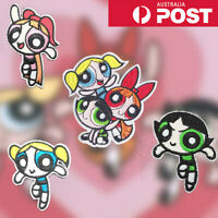 Powerpuff Girls Embroidered Patches for Embroidery Cloth Patch Badge Iron Sew On
