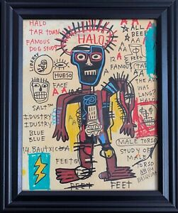 Jean Michel Basquiat Drawing Original King Samo Rare Vintage