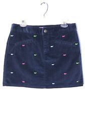 Vineyard Vines Skirt Navy Blue Corduroy Whale Embroidery Size 8