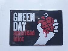 More details for green day american idiot metal sign plaque posters american rock retro