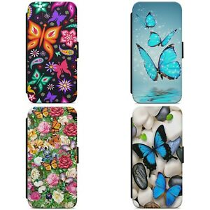 Butterfly Flower Floral Pattern Print FLIP WALLET PHONE CASE COVER FOR HUAWEI