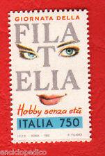 W194 ITALIA 1992 GIORNATA DEL FRANCOBOLLO ADESIVO DA LIBRETTO
