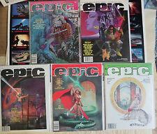 Epic Illustrated #7 8 26-28 (Marvel 1981-84) Lot of 5Diff Galactus Nova Suydam++
