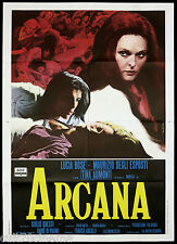 ARCANA MANIFESTO CINEMA DE SETA LUCIA BOSE' HORROR ITALIA 1971 MOVIE POSTER 2F