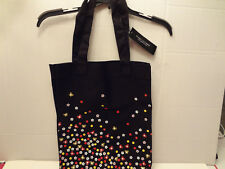Marc Jacobs Fragrances Black Canvas FLORAL Tote Shopper Bag NWT-P4