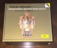 6CD boxset Bach Organ Works Preston DG Germany Toccata Fugue Prelude Partita vg+