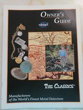 Owner's Guide White's Metal Detectors The Classics I, II and III 31 pages