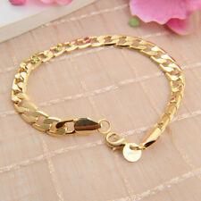 Women Charm 18K Yellow Gold Filled Chain Bracelet Jewelry Gift for Women/Men