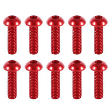 10PCS M3 x 6mm 7075 Aluminum Alloy Button Head Screws,Hex Socket Bolts Red
