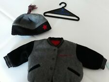"""American Girl 18"""" Doll Varsity Jacket And Hat with tassel, excellent pre-owned"""