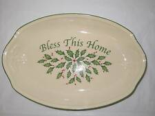 """Lenox American By Design 11"""" Holiday Bless this Bread serving tray New"""