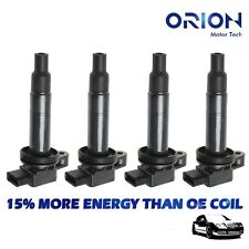 Set of 4 Ignition Coil on Plug Pack For Toyota Prius Echo Yaris Scion 00-08 1.5L