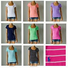 63fdbeef NWT Lot of 5 Polo Ralph Lauren Short Sleeve Pony ScoopNeck Fitted T-Shirt  Tee