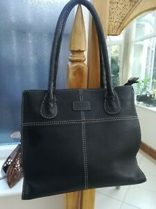 Osprey medium leather double zip compartment shoulder bag