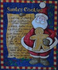 "Daisy Kingdom ~ Santa`s Cookies Beth Yarbrough Christmas Fabric Panel 36"" x 45"""