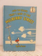 """DR. Seuss """"And To Think That I Saw It On Mulberry Street"""" 1937 Book Club Edition"""