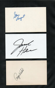 JACK HAM LB PITTSBURGH STEELERS HOF SIGNED AUTOGRAPHED INDEX CARD 3X5 VERY NICE