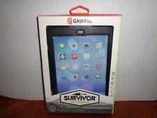 Genuine Griffin iPad mini 2, 3 Case w/Retina Display Black Survivor All-Terrain