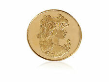 Nice Detailed Queen Bullion Gold Coin In Solid 24Karat (995) Pure Certified Gold