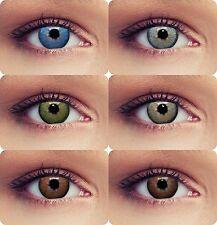 """Farbige Kontaktlinsen geeignet für dunkle Augen """"Dimension"""" mit oder ohne Stärke"""