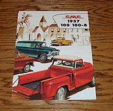 1957 GMC Truck 100 100-8 Pickup Panel Suburban Sales Brochure 57