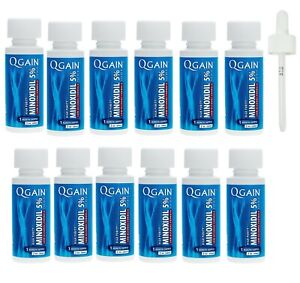 Qgain High Purity Minoxidil 5% for MEN Low Alcohol Formula 12 month supply
