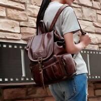 Shoulder Bag Soft Women Leather Backpack Adjustable Strap Handbag UK