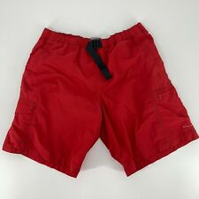 Columbia Field Gear Shorts Men's Size M Omni-Shade Inner Lined Red Elastic Waist