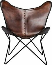 BKF AA Star Design Dark Brown Leather Butterfly Arm Chair Butterfly Armchair