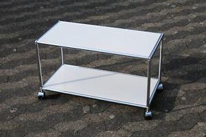 USM Haller Beistelltisch Tisch Regal RAL 9010 Reinweiss  37x44x78cm