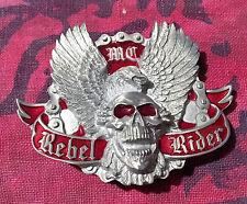 REBEL RIDER BELT BUCKLE NEW