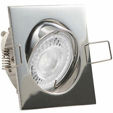 LED Einbaustrahler Set Decken Strahler Spot 230V 3W 5W 7,5W dimmbar QUADROS